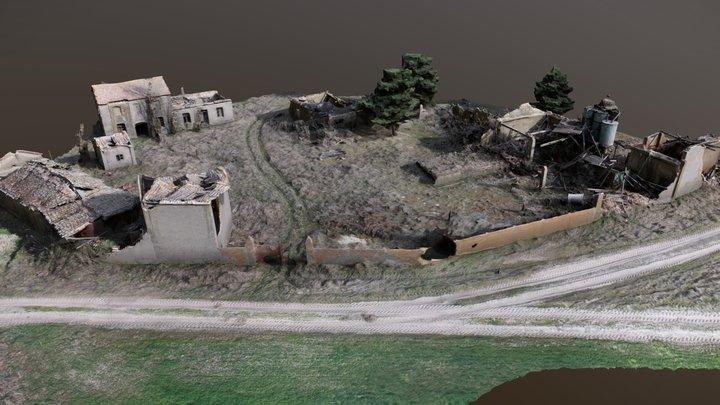 Ruinas de fábrica para procesamiento de resina 3D Model