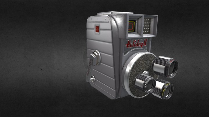 1950's Mansfield Holiday II Video camera 3D Model