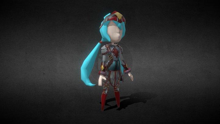 Warrior_F 3D Model