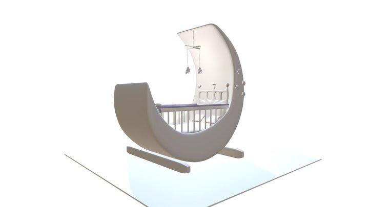 Baby Greed And Baby Cabela Royal Moom Star Crib1 3D Model