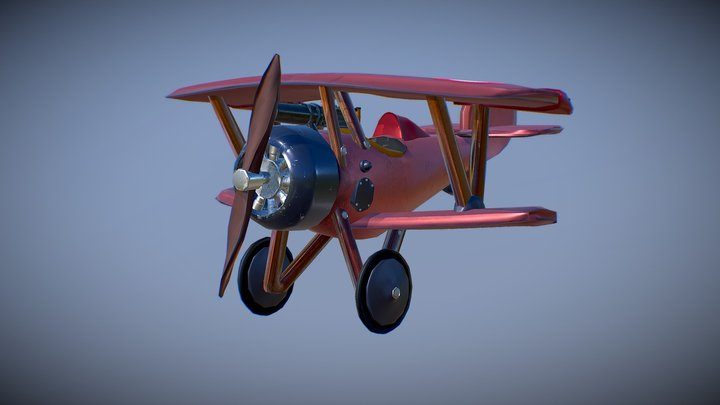 WW1 Biplane - Nieuport 3D Model