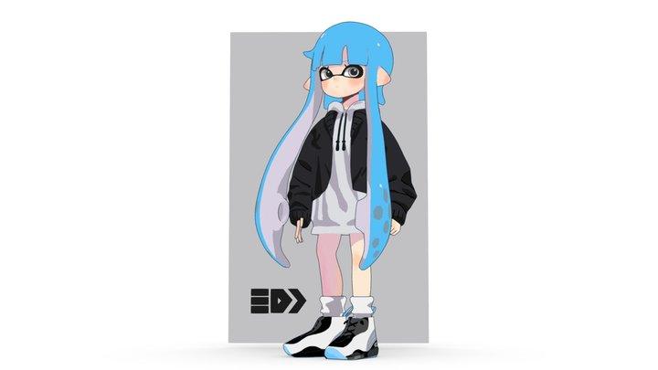 Splatoon Girl 3D Model