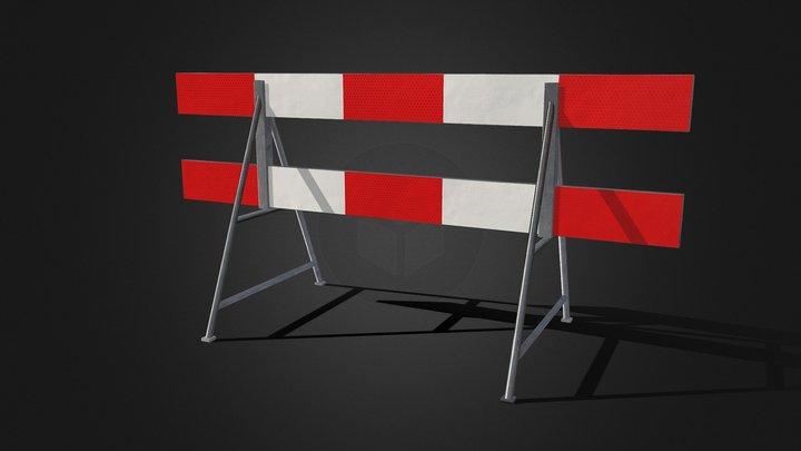 crush Barrier Reflect Dutch Street Props ELA 3D Model