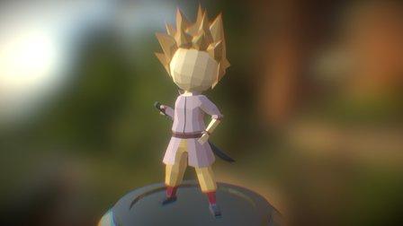 Low Poly Character: Tirus Kasenji 3D Model