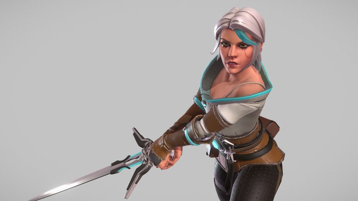 Ciri - Witcher // Overwatch Mashup 3D Model