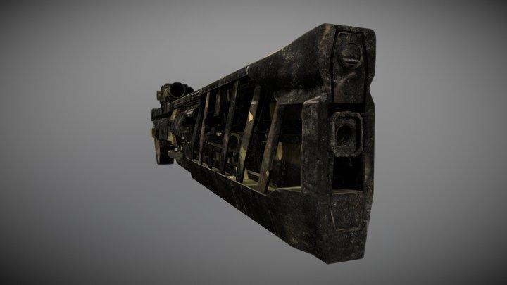 Concept // Military Futuristic Gun 3D Model