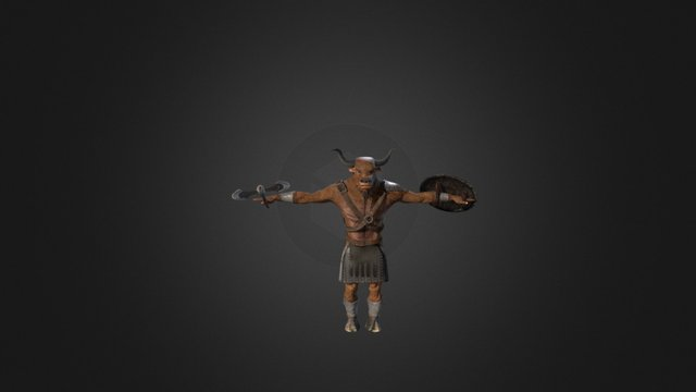 3D Character Design Contest 2016-Minotaur 3D Model