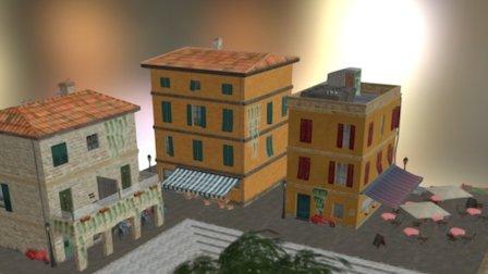 CityScene_1DAE17_Smekens_Robin 3D Model