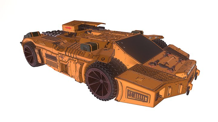 Sci-Fi Vehicle 3D Model