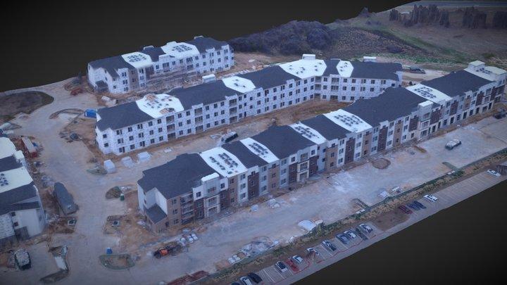 Apartment Construction Progress 3D Model