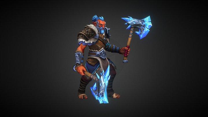 Frostreaver - Dota 2 Troll Warlord Set 3D Model