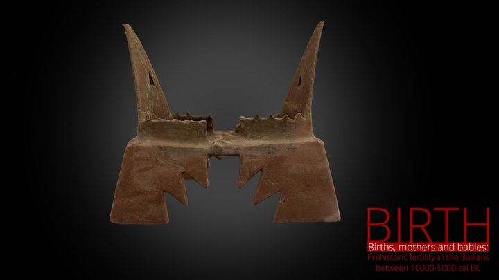 Model of a house, Neolithic 3D Model
