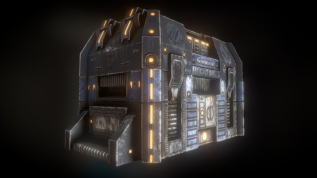 Scifi Crate 3D Model