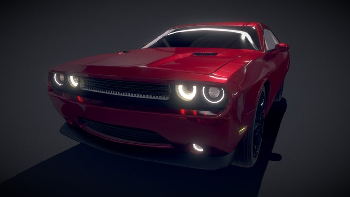 Dodge Challenger 2014 3D Model