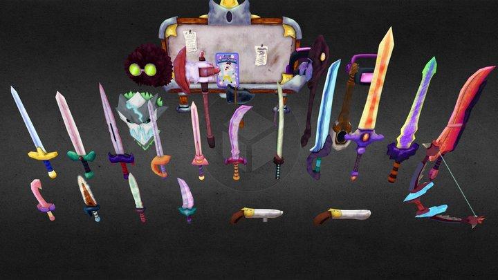 Dreams of Estorra - Weapon and Equipment Comp 3D Model