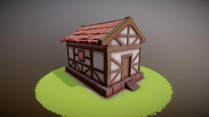 Stylized Medieval Cottage 3D Model