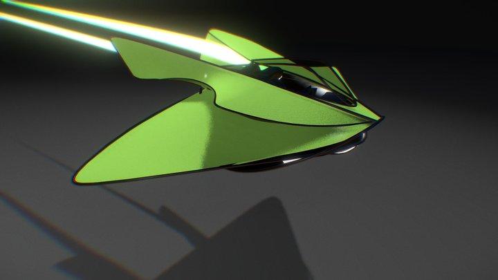spaceship2 3D Model