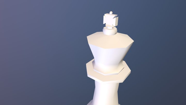 Low Poly Chess King 3D Model