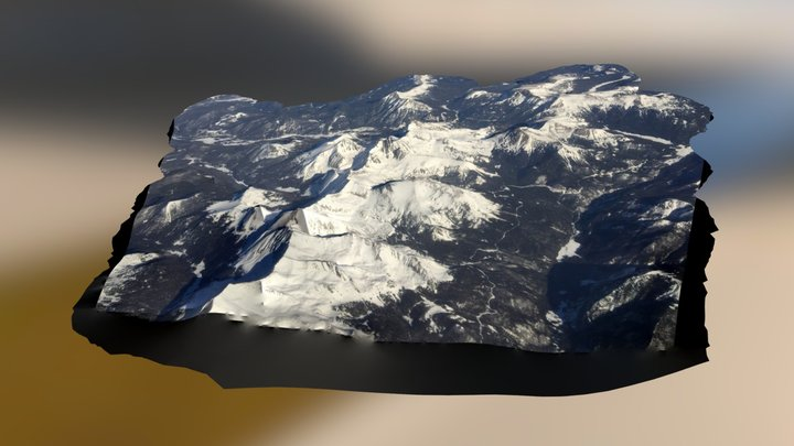 Rocky Mountains on way to Breckenridge 3D Model