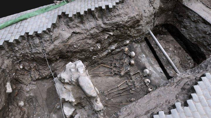 Medeltida gravar vid Storkyrkan i Gamla stan 3D Model