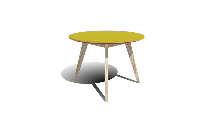 Table Circulaire 3D Model