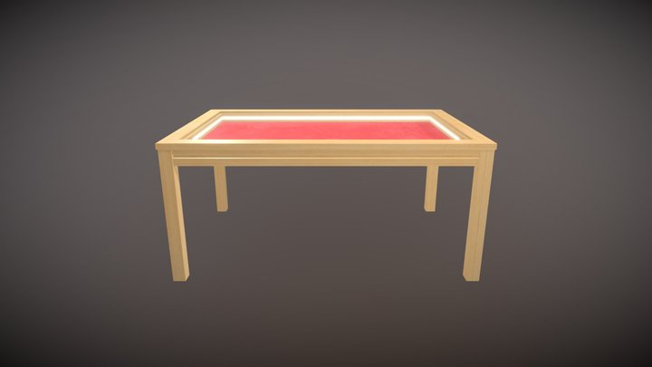 WoodTableTest2 3D Model