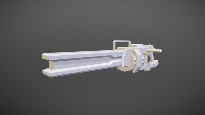 Work-in-Progress Plasma Railgun 3D Model