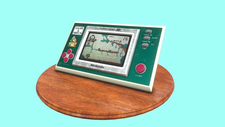 Game&Watch Donkey Kong JR 3D Model