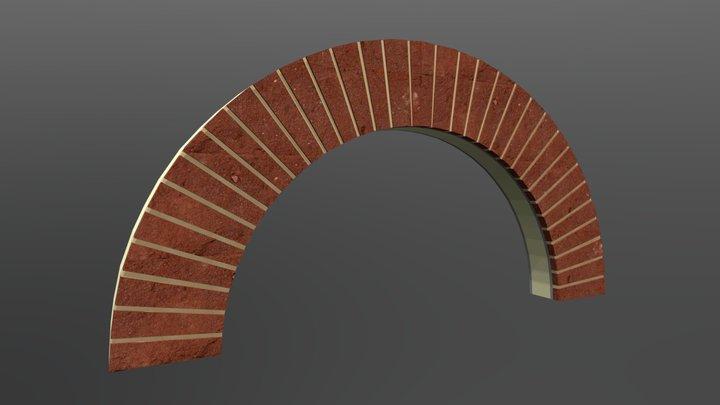 Semi Circular Brick Arch 3D Model