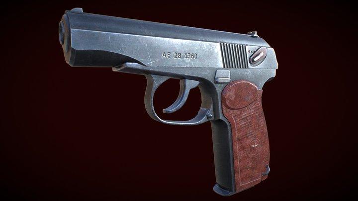 Makarov pm pistol 3D Model