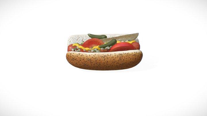 Food Series #3 - Hot Dog 3D Model