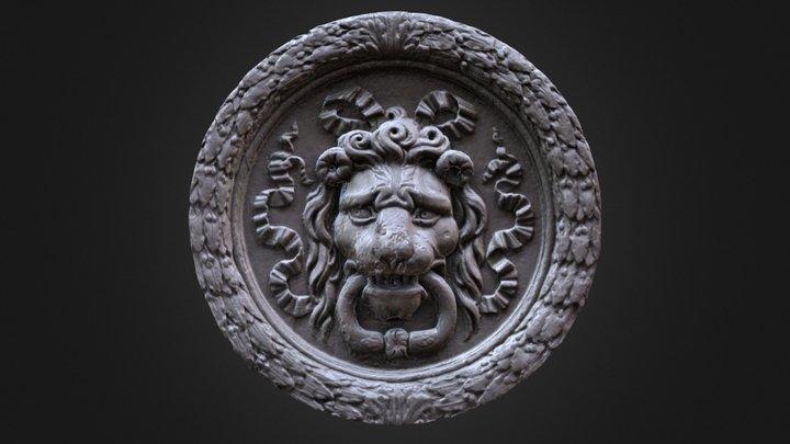 Lion de porte à Paris 3D Model