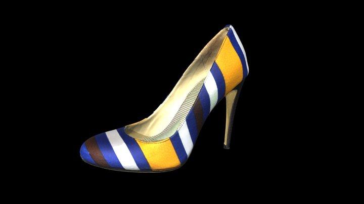 3D Scanned - Mascotte Striped Shoe 3D Model