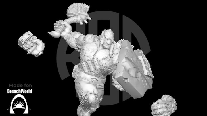 Tusk Alien Adventurers Game 38mm 3D Model