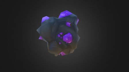 Small Boulder (lowpoly) 3D Model