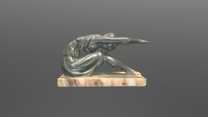 Female sculpture on marmor 3D Model
