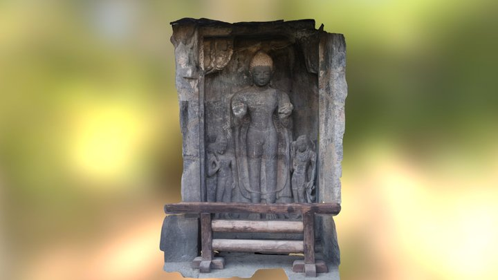 Wall statue at Ajanta 3D Model