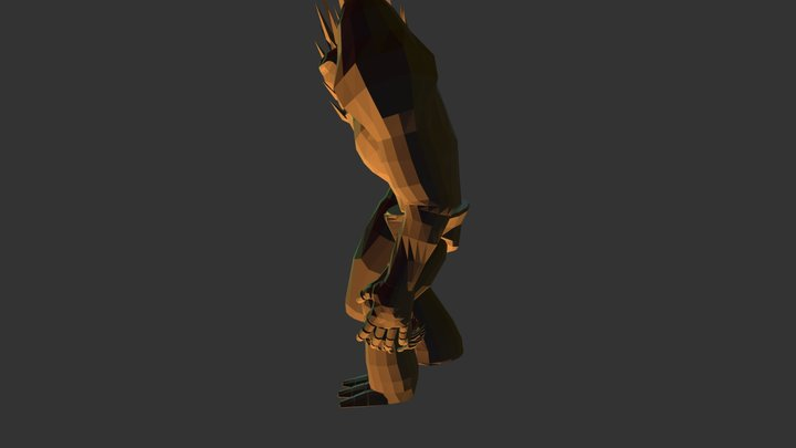 Throw Players of his chest Anim- Titan 3D Model