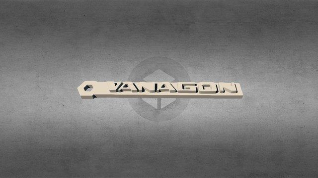Volkswagen T3 Vanagon Keychain 3D Model