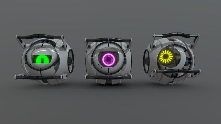 Portal Personality Cores Remake 3D Model