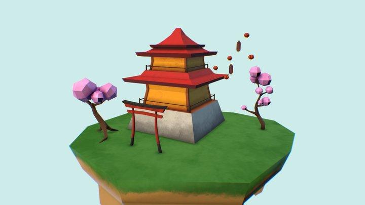 Far Eastern scene 3D Model
