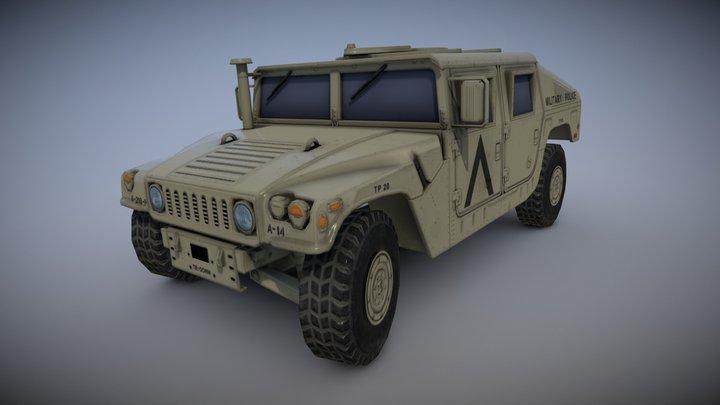 Humvee M1045 MILITARY POLICE 3D Model