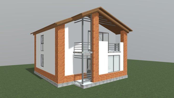 საცხოვრებელი სახლის პროექტი, აგარაკი 3D Model