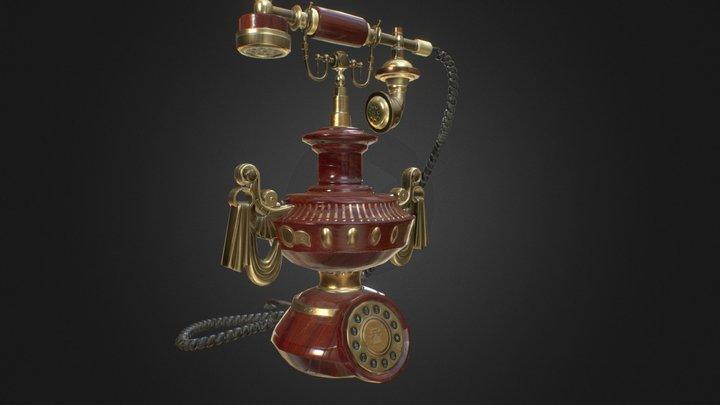 Antique Phone 3D Model