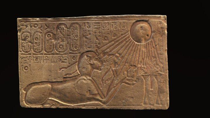Echnaton /Akhenaten as Sphinx 3D Model