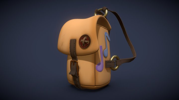 Musician Backpack 3D Model