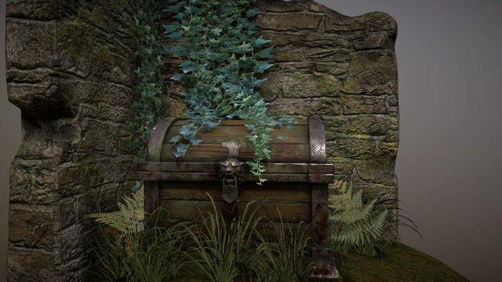 Overgrown Chest 3D Model