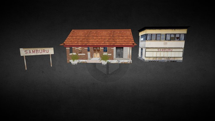 Samburu Railway Station- Kenya 3D Model
