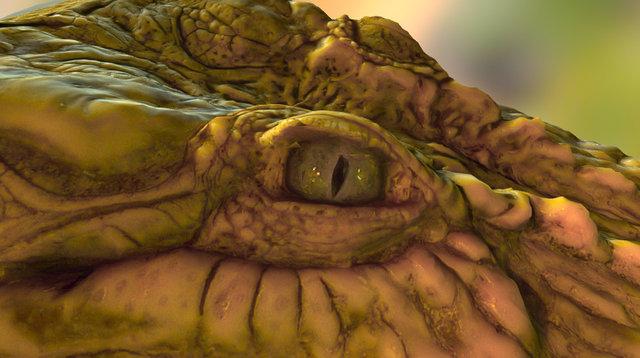 Crocodile Head 3D Model