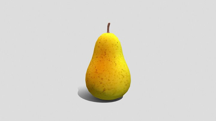 Game Props • Pear, Hand Painted. 3D Model